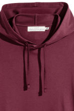 Cotton Jersey Hooded Shirt - Burgundy - Men | H&M CA 2