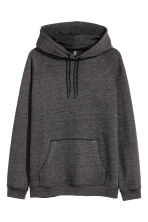 Hooded top with raglan sleeves - Anthracite/Grey marl - Men | H&M 2
