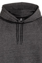 Hooded top with raglan sleeves - Anthracite/Grey marl - Men | H&M 3