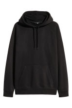Hooded top with raglan sleeves - Black - Men | H&M 2