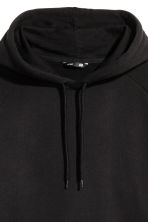 Hooded top with raglan sleeves - Black - Men | H&M 3
