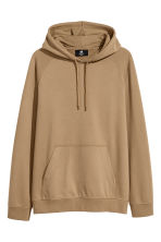 Hooded top with raglan sleeves - Camel - Men | H&M 2