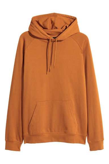 Hooded top with raglan sleeves - Ochre - Men | H&M IE