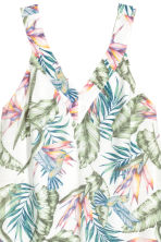 V-neck dress - White/Leaves - Ladies | H&M 3