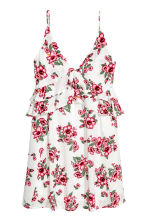 V-neck dress - White/Floral - Ladies | H&M 2
