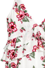 V-neck dress - White/Floral - Ladies | H&M 3