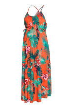 MAMA Long dress - Orange/Patterned - Ladies | H&M CN 2