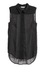 Sleeveless blouse - Black - Ladies | H&M 2