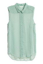 Sleeveless blouse - Mint green - Ladies | H&M IE 2