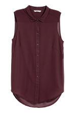 Sleeveless blouse - Plum - Ladies | H&M 2