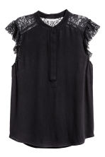 Crêpe blouse - Black - Ladies | H&M IE 2