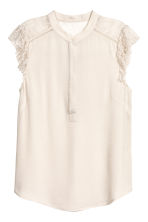 Crêpe blouse - Light beige - Ladies | H&M 2