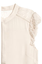 Crêpe blouse - Light beige - Ladies | H&M 4