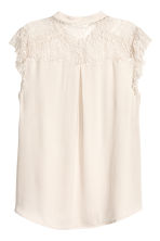 Crêpe blouse - Light beige - Ladies | H&M 3