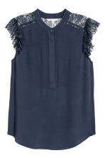 Crêpe blouse - Dark blue - Ladies | H&M 2