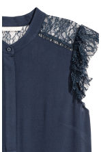 Crêpe blouse - Dark blue - Ladies | H&M 3
