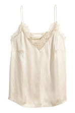 Top en satin - Beige clair -  | H&M FR 2