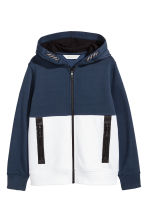 Hooded jacket - Dark blue/White - Kids | H&M 2