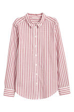 Cotton shirt - Red/Striped - Ladies | H&M CA 2