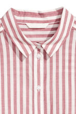 Cotton shirt - Red/Striped - Ladies | H&M CA 3