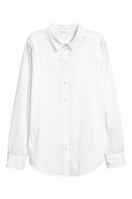 Cotton shirt - White - Ladies | H&M IE 2