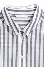 Cotton shirt - Dark grey/Striped - Ladies | H&M 3