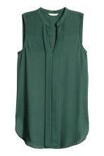 V-neck blouse - Dark green - Ladies | H&M IE 2
