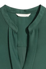 V-neck blouse - Dark green - Ladies | H&M IE 3