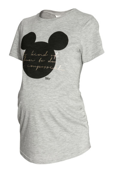 上衣 - Grey/Mickey Mouse - Ladies | H&M 1