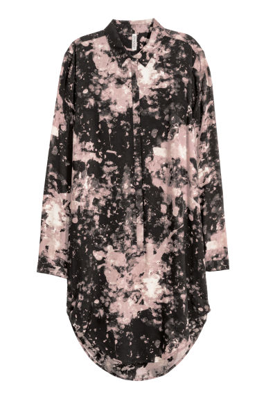 Long-sleeved Tunic - Black/patterned - Ladies | H&M CA