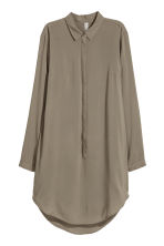 Long-sleeved tunic - Khaki green - Ladies | H&M 2