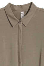 Long-sleeved tunic - Khaki green - Ladies | H&M 3