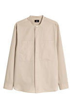 Shirt with a grandad collar - Beige - Men | H&M 2
