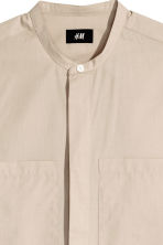 Shirt with a grandad collar - Beige - Men | H&M 3