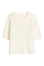 Mohair-blend Sweater - Natural white - Ladies | H&M CA 2
