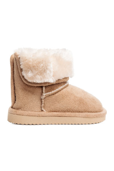 Pile-lined boots - Beige -  | H&M 1