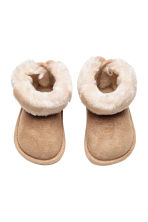 Pile-lined boots - Beige -  | H&M 2