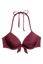 Push-up bikini top - Plum - Ladies | H&M CA 2