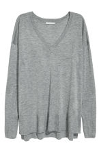 Fine-knit jumper - Grey marl - Ladies | H&M 2