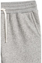 Short van joggingstof - Grijs gemêleerd - HEREN | H&M BE 3