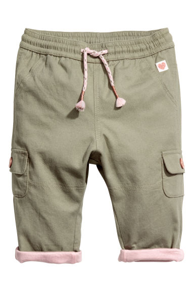 Pull-on trousers - Khaki - Kids | H&M CN 1