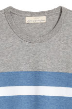 T-shirt color block - Blanc/gris - HOMME | H&M FR 2