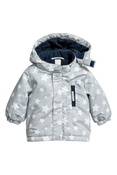Padded outdoor jacket - Light grey -  | H&M CN 1
