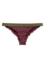 Bikini bottoms Super Low - Khaki green -  | H&M 2