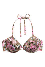 Push-up bikinitop - Beige/bloemen - DAMES | H&M BE 2
