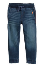 Super Soft jeansjoggers - Donker denimblauw - KINDEREN | H&M BE 1