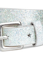 2-pack belts - Silver-coloured/Pink/Glitter - Kids | H&M 2