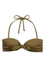 Bandeau bikini top - Khaki green - Ladies | H&M 2