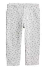 3/4-length leggings - Grey/Glitter - Kids | H&M CN 2