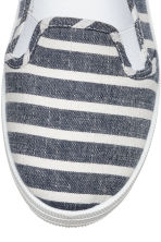 Slip-on trainers - Dark blue/Striped - Ladies | H&M CN 3